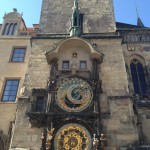 The Astronomical Clock in Old Town Square is popular amongst tourists from all over the world. Tourists gather at the top of each hour to watch the show which is free of charge. (Photo by Erica Torre)