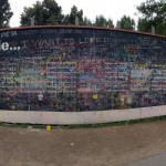 This is the Before I Die wall where one can write their desires of things to complete in life before they pass away.  (Photo by Erica Torre)