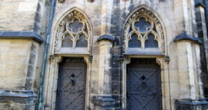St. Vitus Cathedral, begun in 1344, has a set of front doors with plenty of history and beauty. (photo by Leah Heiser)
