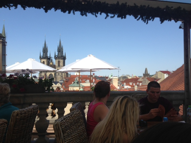 An ode to our host kent in prague for Terrace u prince prague